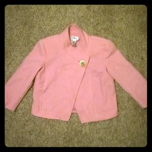 Lilly Pulitzer Size 0 vintage cropped pink blazer